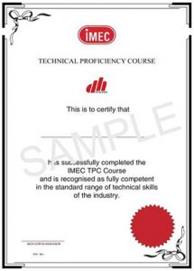 IMEC Technical Proficiency Certificate