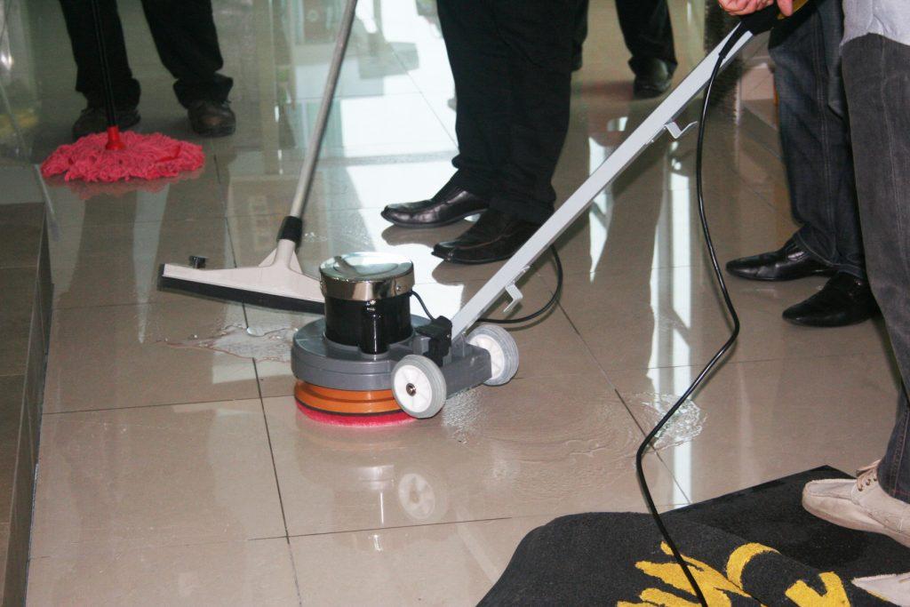 P130 applied on floor