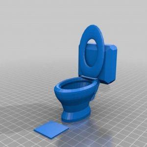 Inside Toilet Cubicle