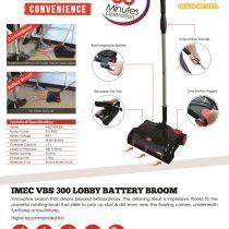 IMEC VBS300 Lobby Battery Broom-email