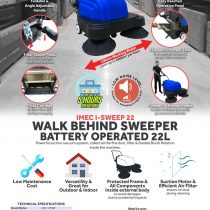 FLYERS i-SWEEP 22 WALK BEHIND SWEEPER BATTERY OPERATED